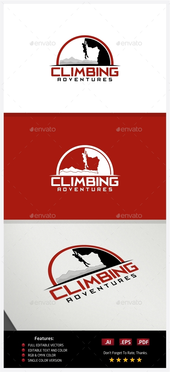 GraphicRiver Climbing Adventures Logo 10237994