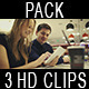 People with Cell and Touch Pad - VideoHive Item for Sale