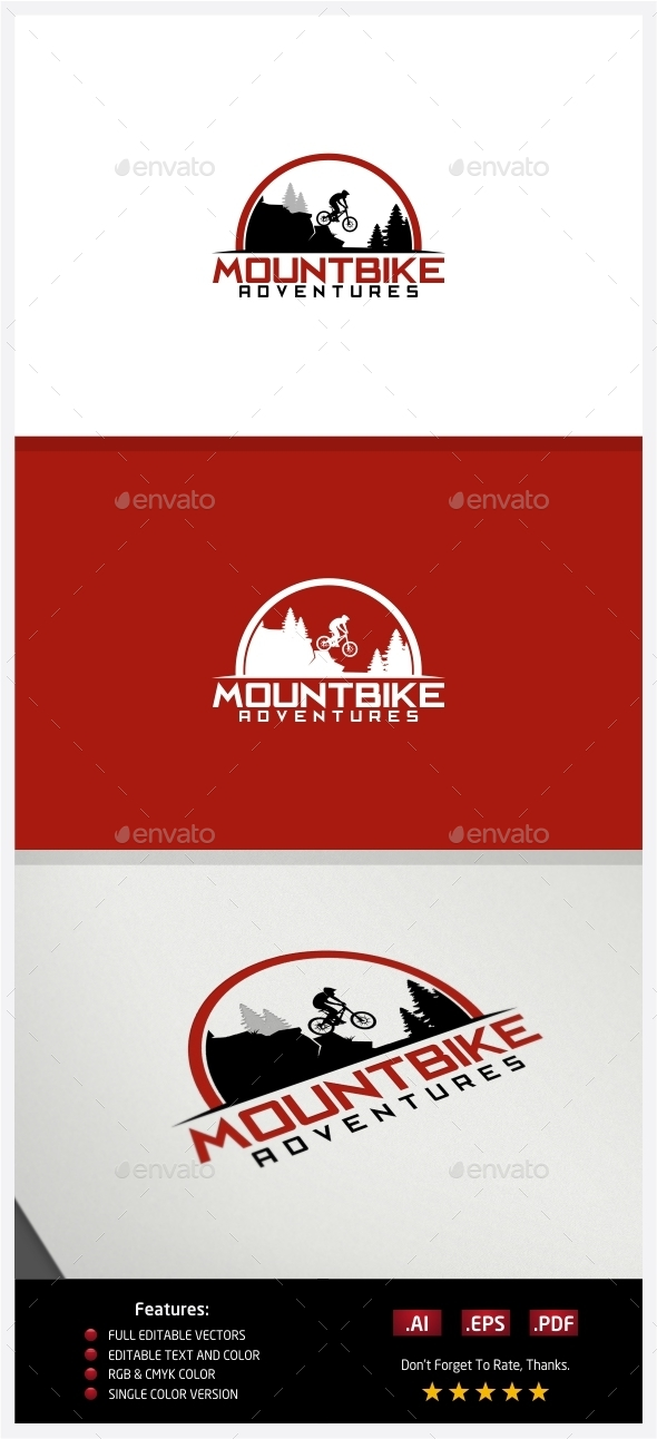 GraphicRiver MountBike Adventures Logo 10238287