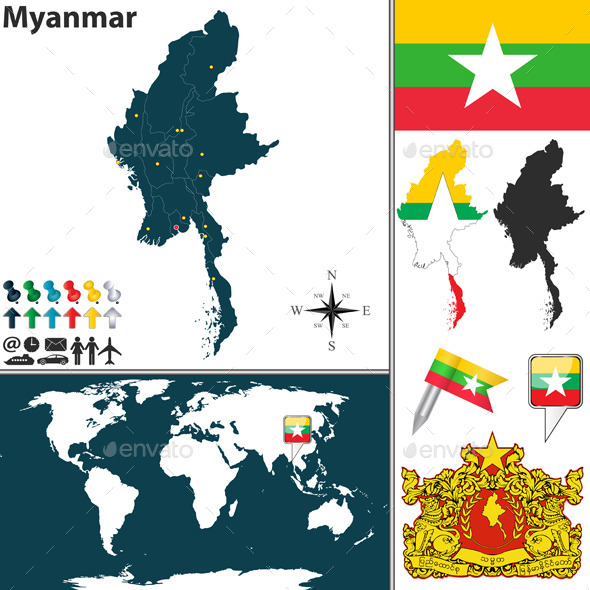 GraphicRiver Map of Myanmar 10300425
