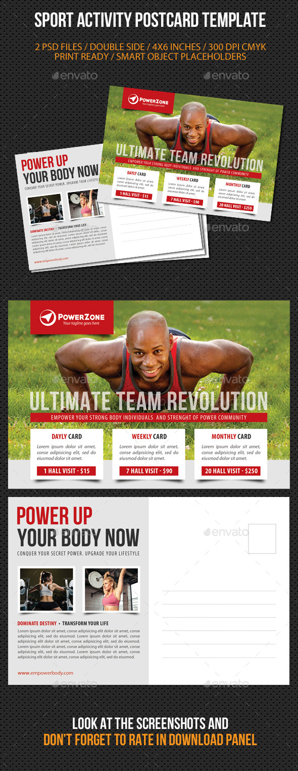 GraphicRiver Sport Activity Postcard Template V05 10300543