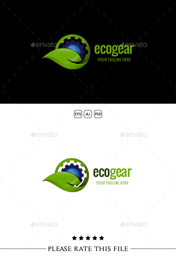 GraphicRiver Eco Gear Logo 10273463