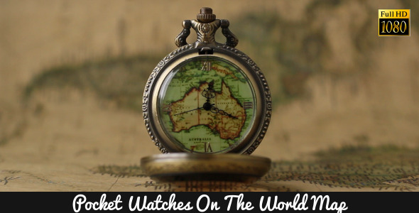 Pocket Watches On The World Map 6