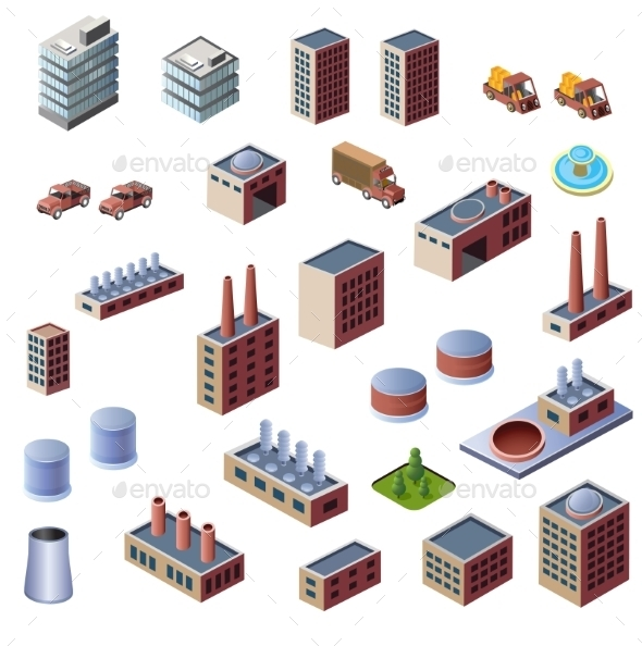 GraphicRiver Industrial Buildings 10301426