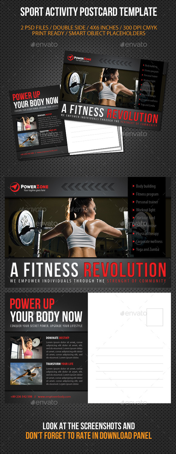 GraphicRiver Sport Activity Postcard Template V06 10301455