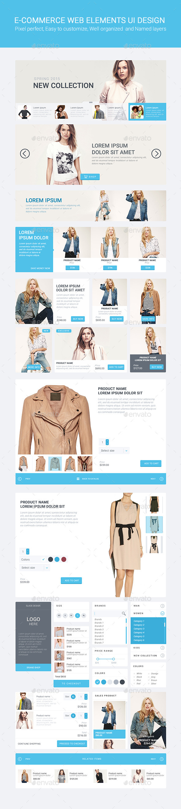 Slade E-commerce Web Elements UI Design (User Interfaces)
