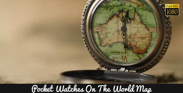 Pocket Watches On The World Map 10