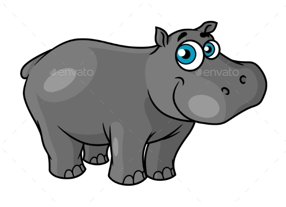 GraphicRiver Cartoon Hippo 10301869
