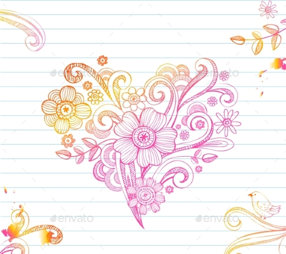 GraphicRiver Sketchy Doodle Heart 10301935