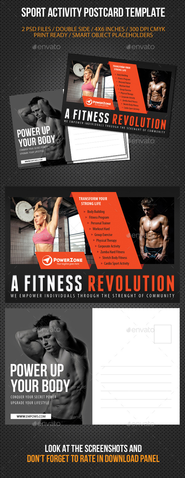 Sport Activity Postcard Template V07