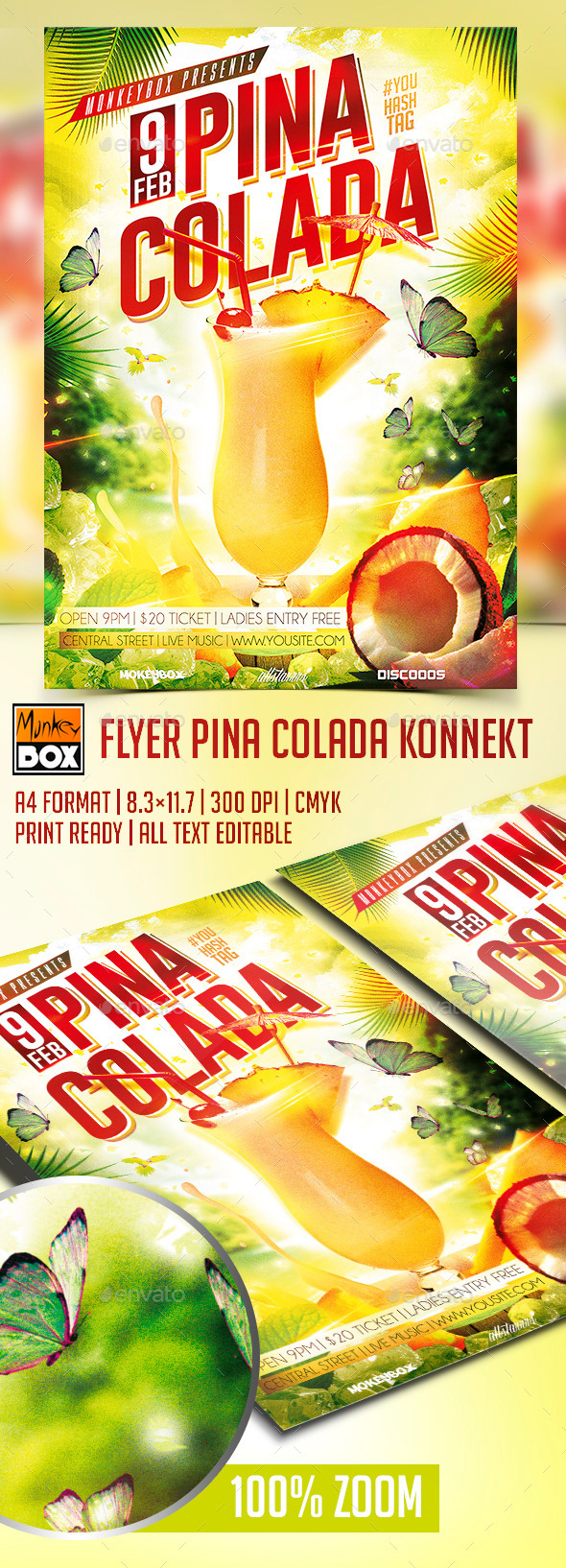 GraphicRiver Flyer Pina Colada Konnekt 10302108