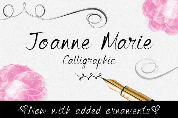 GraphicRiver Joanne Marie Calligraphic Font 10302311