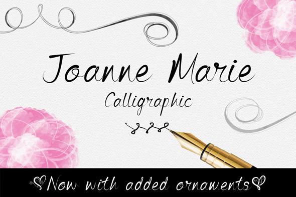 GraphicRiver Joanne Marie Calligraphic Font 10302311