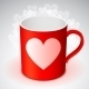 Cup with Heart Symbol - GraphicRiver Item for Sale