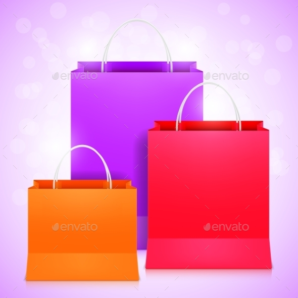 GraphicRiver Color Shopping Bags 10302369