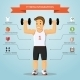 Fitness Infographics Concept - GraphicRiver Item for Sale