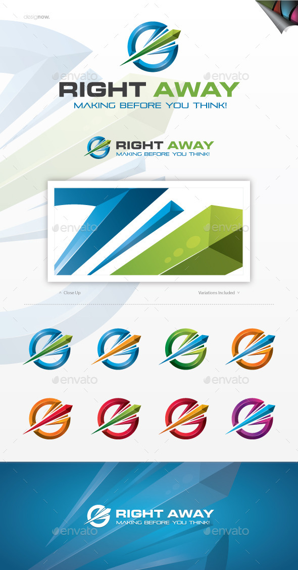 GraphicRiver Right Away Logo 10302557