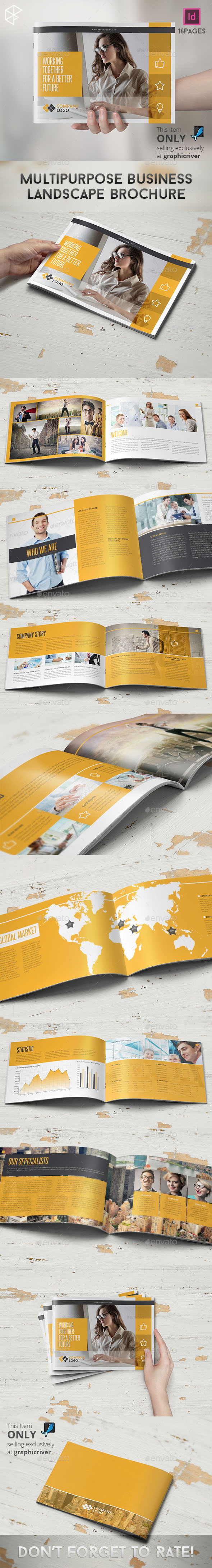 GraphicRiver Multipurpose Business Landscape Brochure 10302654