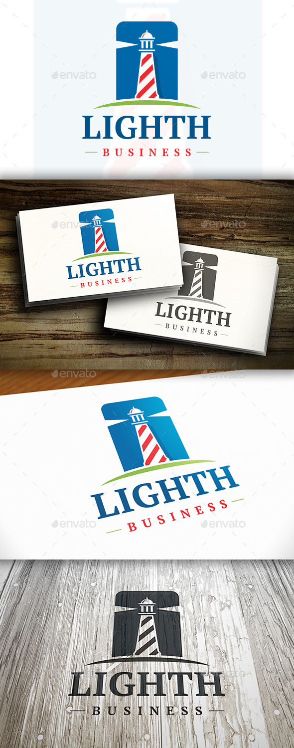 GraphicRiver Modern Lighthouse Logo 10302660