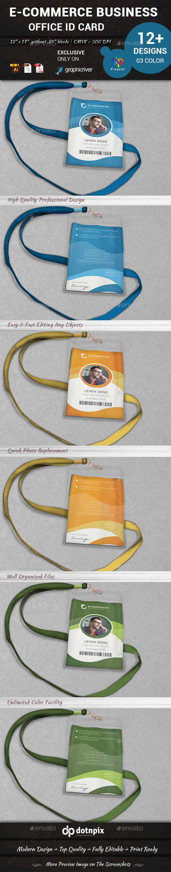 GraphicRiver E-Commerce Business Office ID Card 10302826