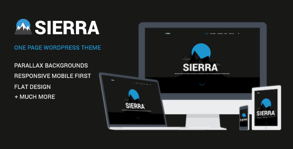 ThemeForest Sierra One Page Responsive WordPress Theme 10302986
