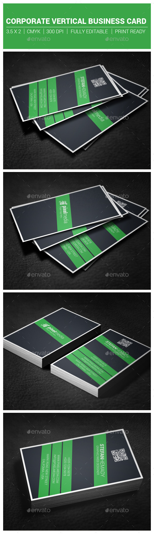 GraphicRiver Corporate Vertical Business Card 10302999