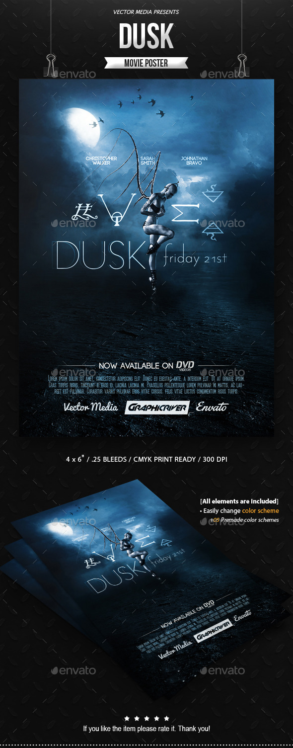 GraphicRiver Dusk Movie Poster 10303040
