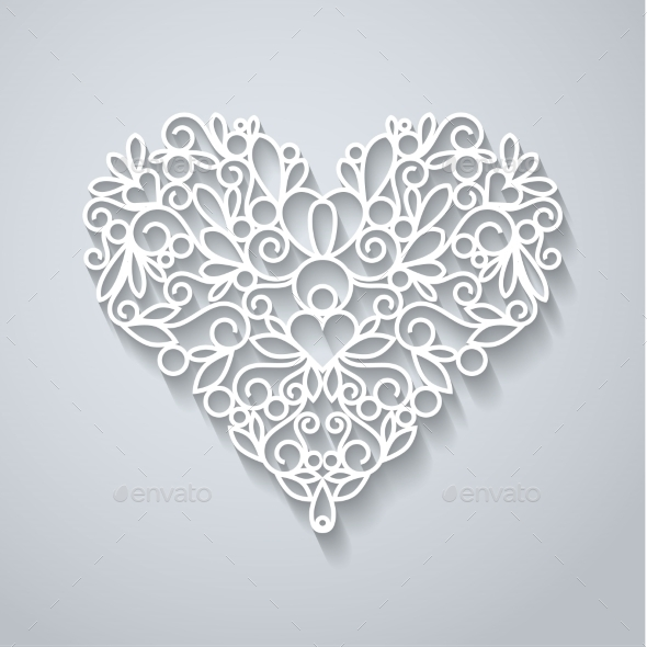 GraphicRiver Paper Heart with Shadow 10303056