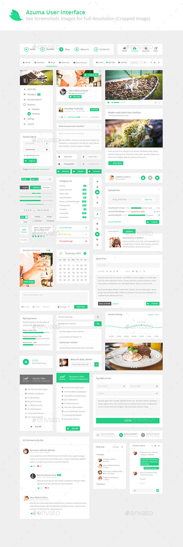 GraphicRiver Azuma UI New Modern User Interface Design 10303315