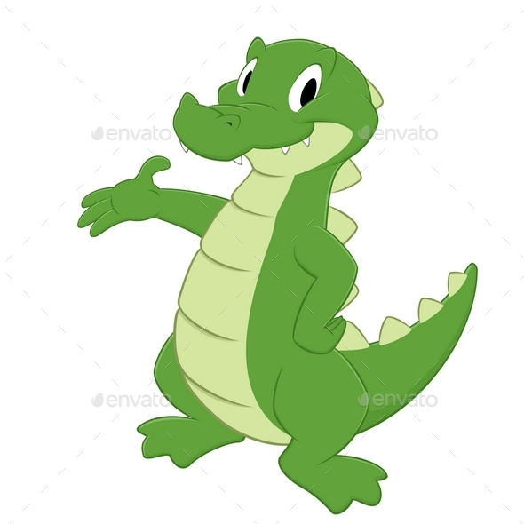 GraphicRiver Cartoon Crocodile 10303509