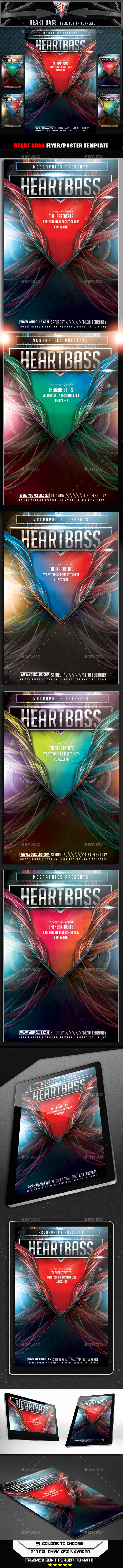 GraphicRiver Heart Bass Flyer Template 10303748