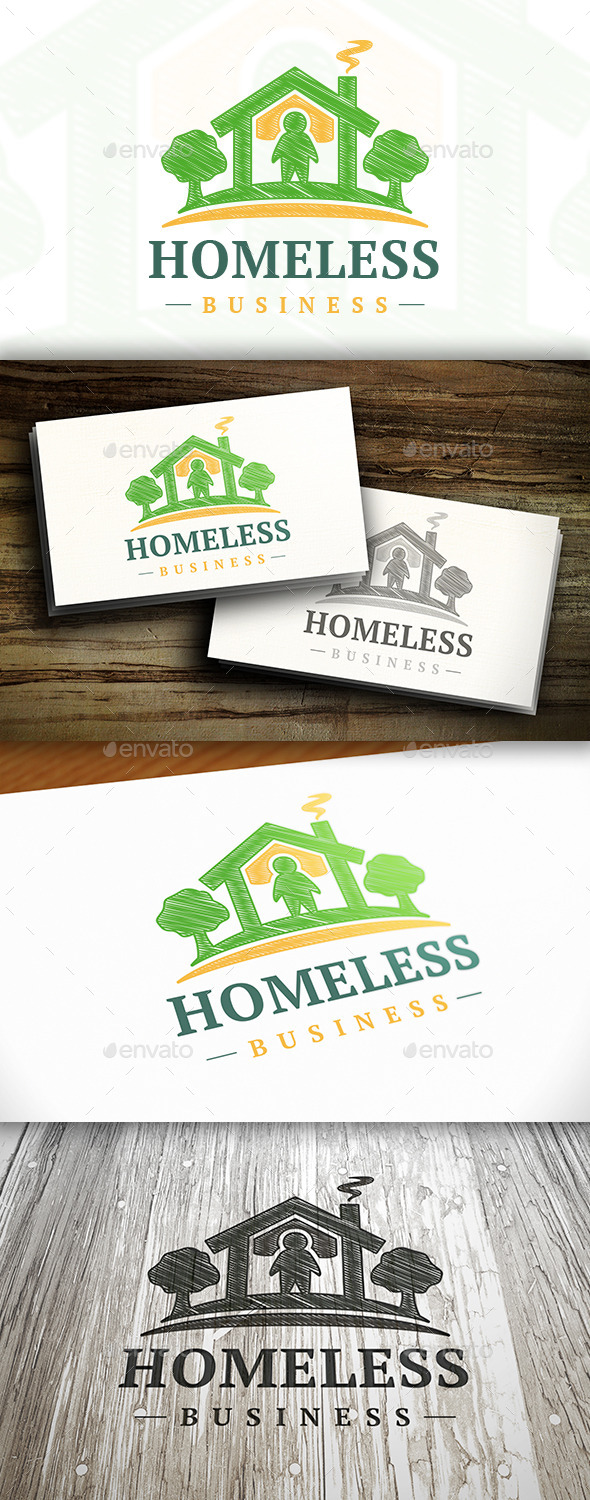GraphicRiver Homeless Logo 10303798