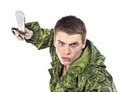 Military Man Attack With Knife - PhotoDune Item for Sale