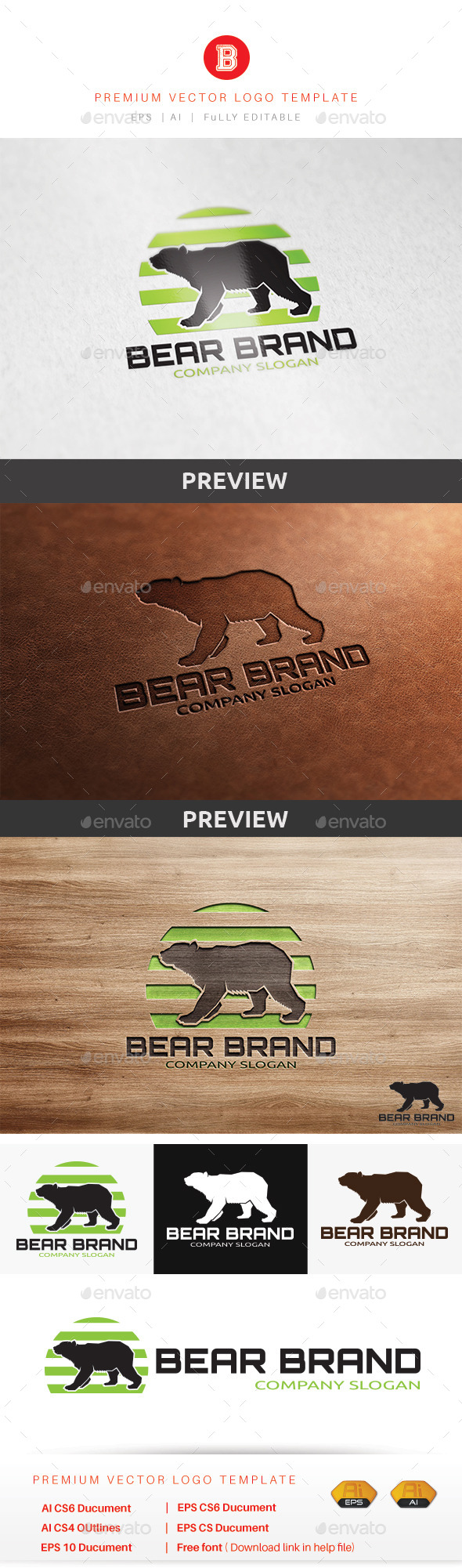 GraphicRiver Bear Brand 10303852