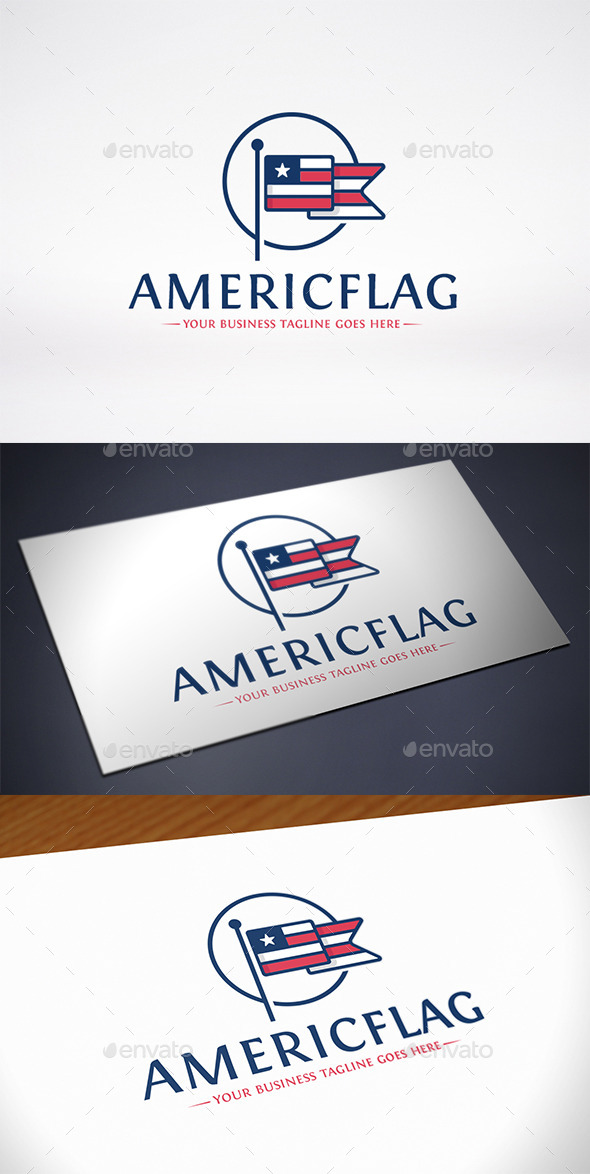 GraphicRiver American Flag Logo Template 10303981