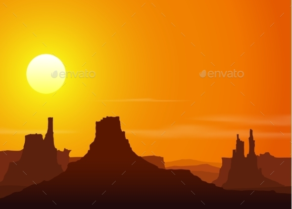 GraphicRiver Sunset in the Rocky Mountains 10303991