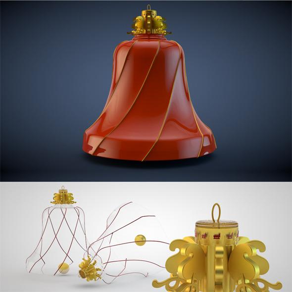 Bell Christmas Decoration Kit 15 - 3DOcean Item for Sale