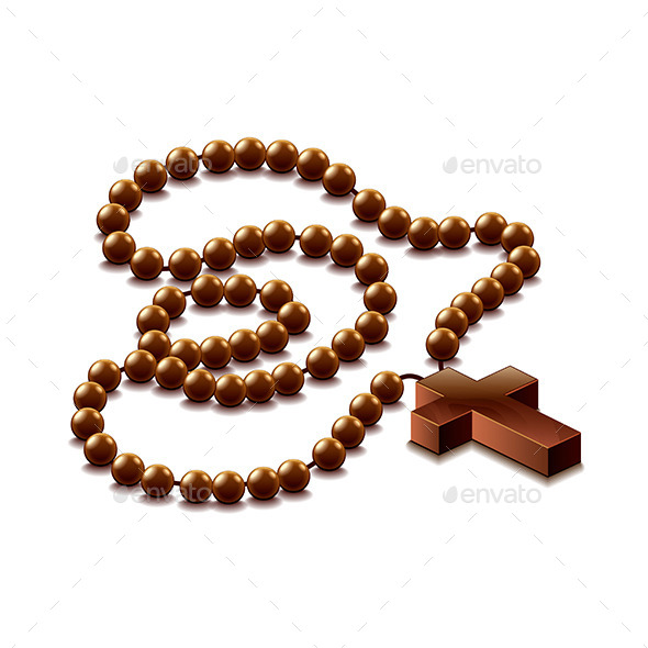 GraphicRiver Rosary with Cross 10304009