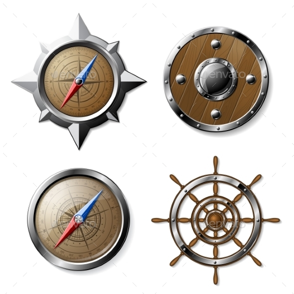 GraphicRiver Set of Steel and Wooden Nautical Elements 10304017