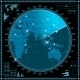 Blue Radar Screen with Planes and World Map - GraphicRiver Item for Sale