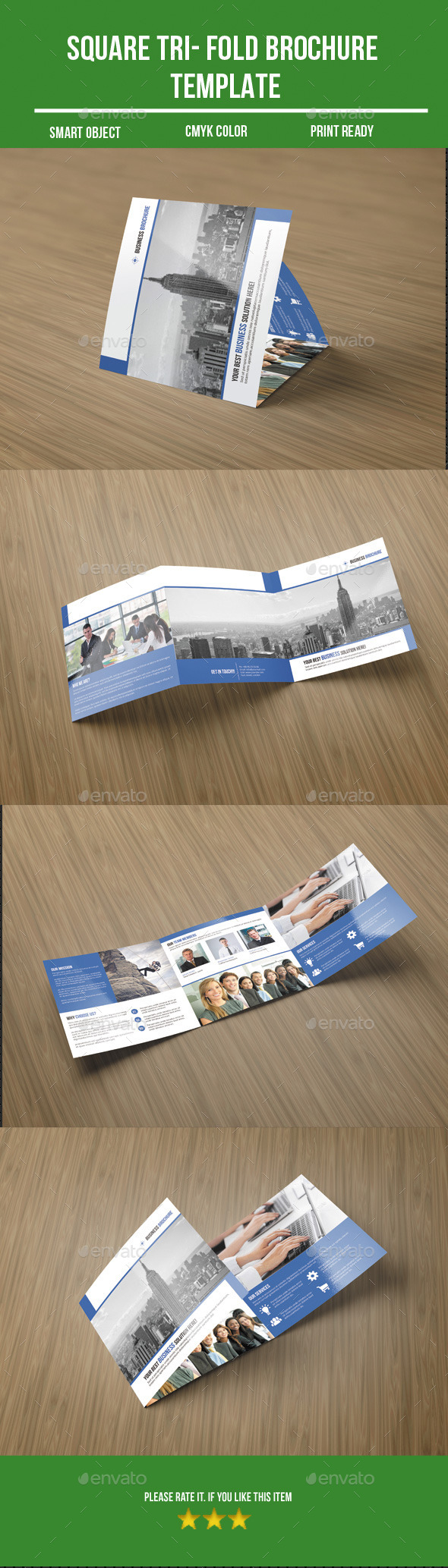 GraphicRiver Square Tri- Fold Business Brochure 10304049
