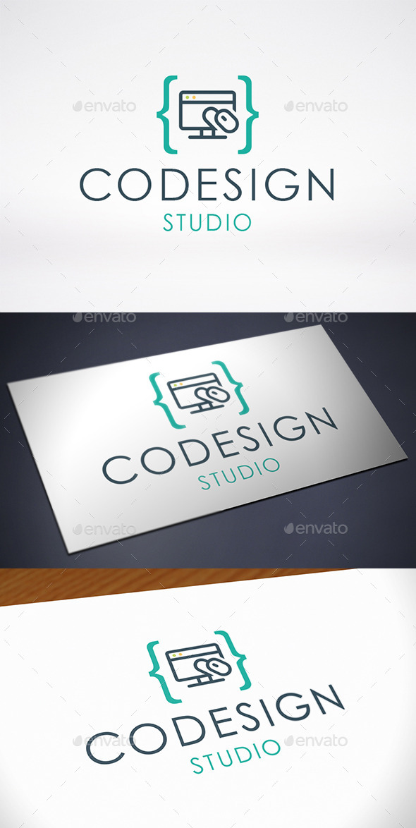GraphicRiver Code Design Identity Logo Template 10304183