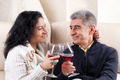 Couple Drinking A Glass Of Wine - PhotoDune Item for Sale