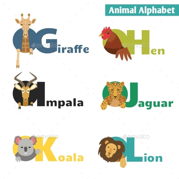 GraphicRiver Animal Alphabet 10304287