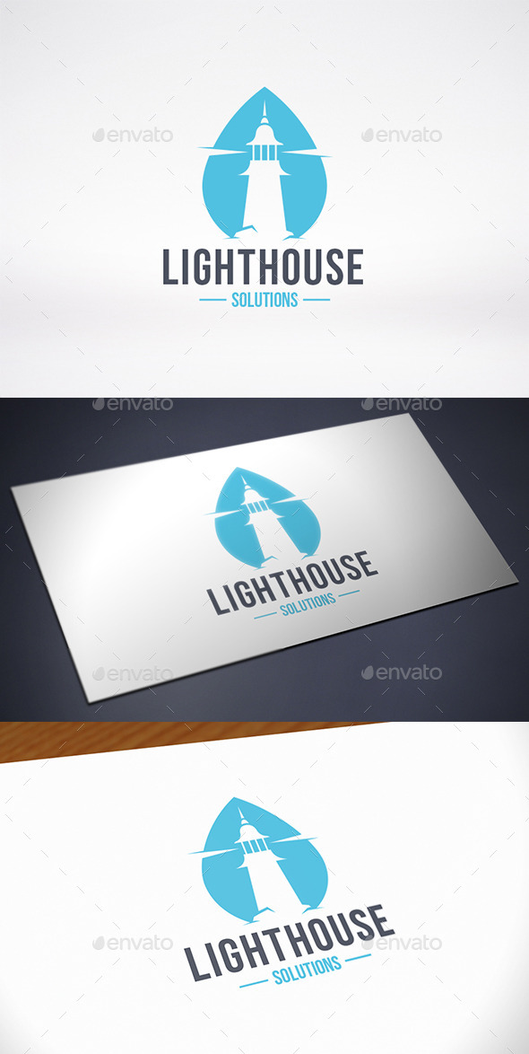 GraphicRiver Lighthouse Water Logo Template 10304732