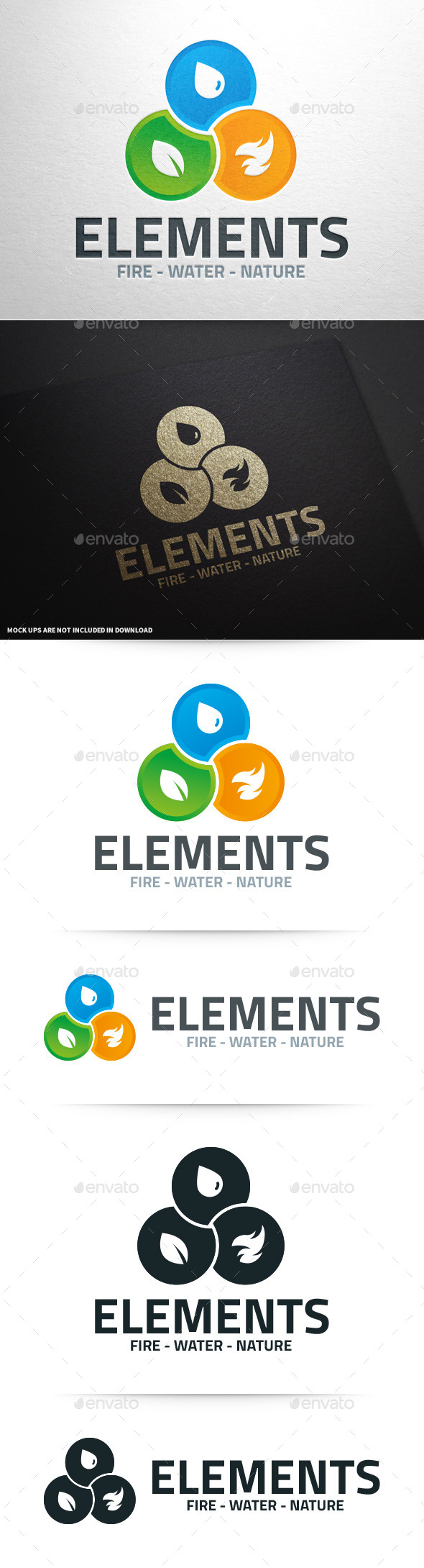 Elements Logo Template