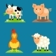 Farm Animals Set  - GraphicRiver Item for Sale