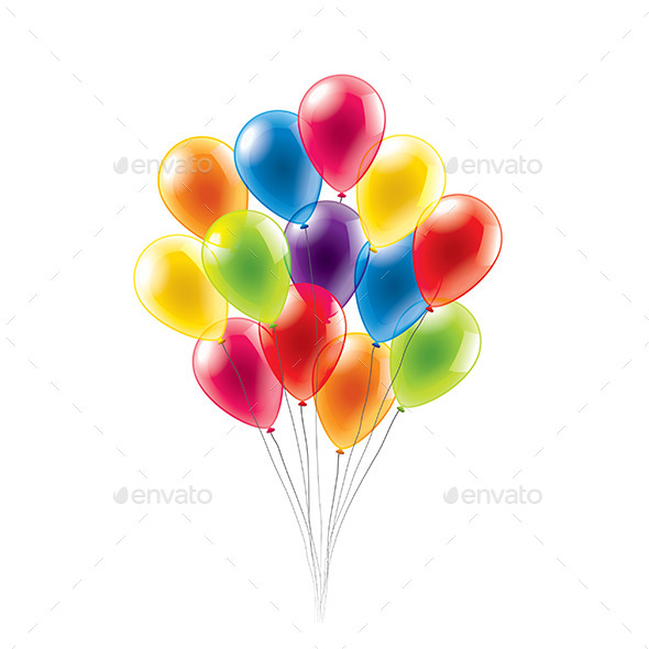 GraphicRiver Colored Balloons 10305050