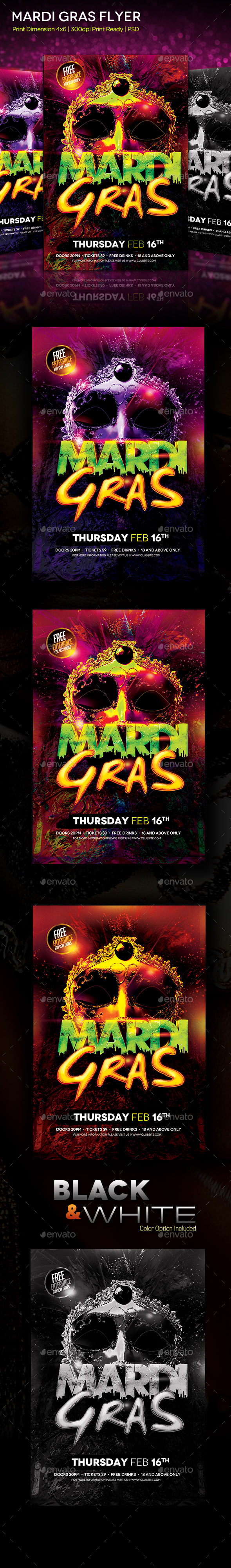 GraphicRiver Mardi Gras Flyer 10305112