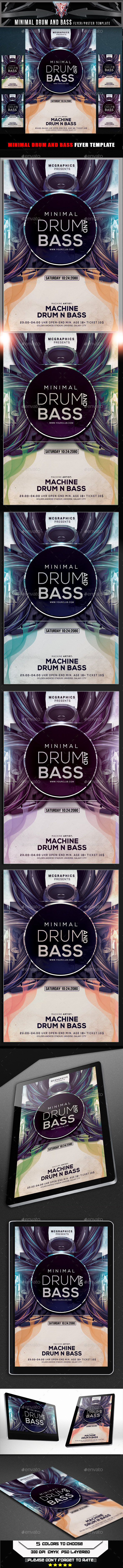 Minimal Drum and Bass Flyer Template